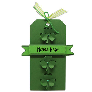 pop out clover gift tag