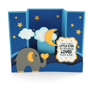 center box card elephant