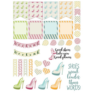 shoes planner stickers