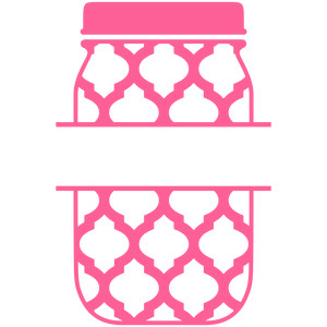mason jar quatrefoil split label