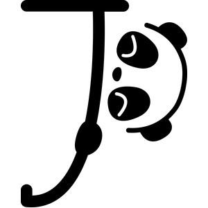 Silhouette Design Store   View Design #217194: panda letter j