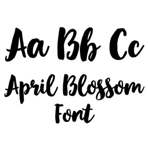 april blossom font