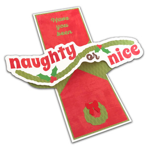 twist pop-up naughty or nice card