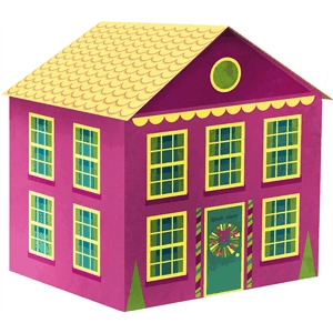 3d holiday house (cameo size)