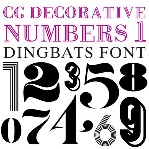 cg decorative number 1 dingbats