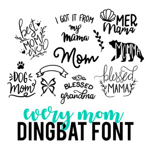 every mother dingbat font