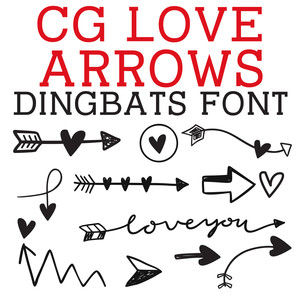 cg love arrows dingbats