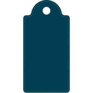 stitched rounded rectangle tag