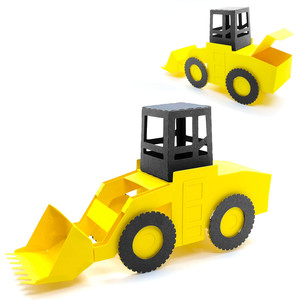 3d tractor loader construction box