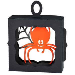 spider hanging ornament box