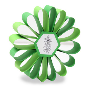 ml coloring ornament - mistletoe