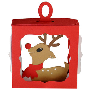 baby rudolph hanging ornament box