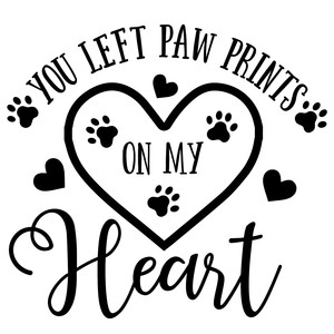 pet memorial - you left paw prints on my heart