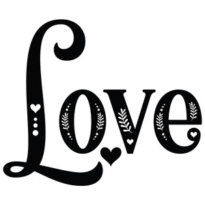 love decorative word