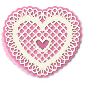 heart doily shaped easel 6x6 card