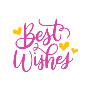 best wishes with hearts