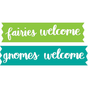 fairy welcome signs