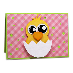 chick pop up card