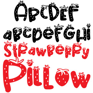 pn strawberry pillow
