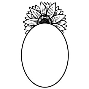 oval sunflower frame