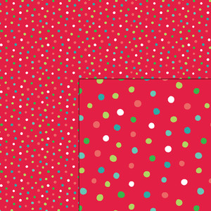 nordic holiday red polka dot pattern