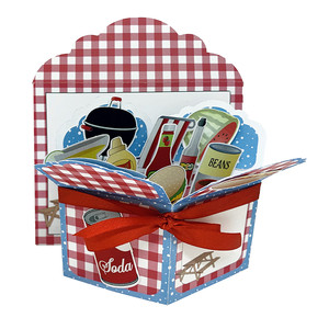 picnic pop up card in a box w/envelope