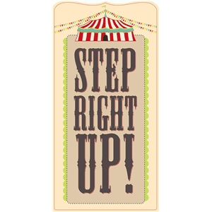 step right up sign