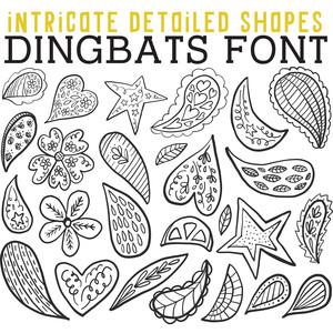 cg intricate detailed shapes dingbats