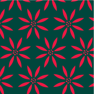 bold christmas floral pattern