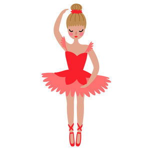 ballerina with blonde hair