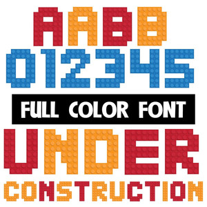 under construction color font