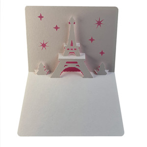 eiffel tower xmas popup card