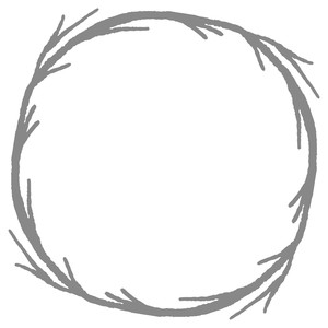 grunge branch circle wreath