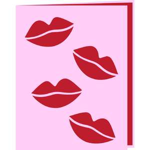 smooch lips card