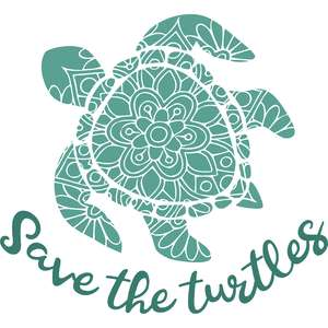 save the turtles mandala