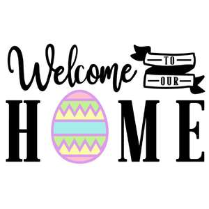 welcome home easter sign