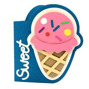 sweet ice cream cone card