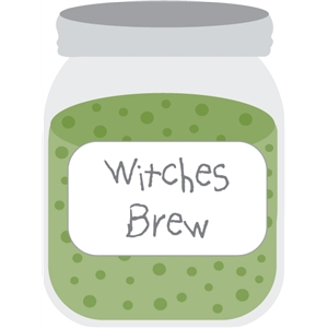 halloween mason jar - witches brew
