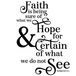 faith is being sure of what we hope for scripture