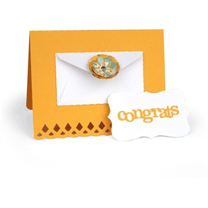 'congratulations' envelope flower card