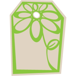 Flower Gift Tag - Hexagon