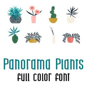 panorama plants full color font
