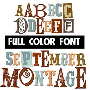september montage color font