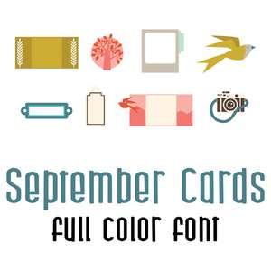 september cards full color font