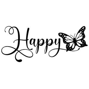 happy butterfly word