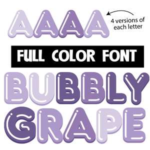 bubbly grape color font