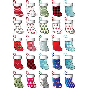 christmas stocking stickers