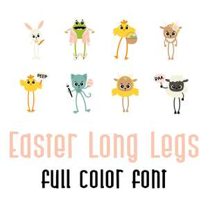 easter long legs color font