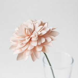 rolled dahlia on stem by farren celeste