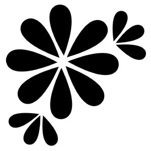 simple flower with leaves